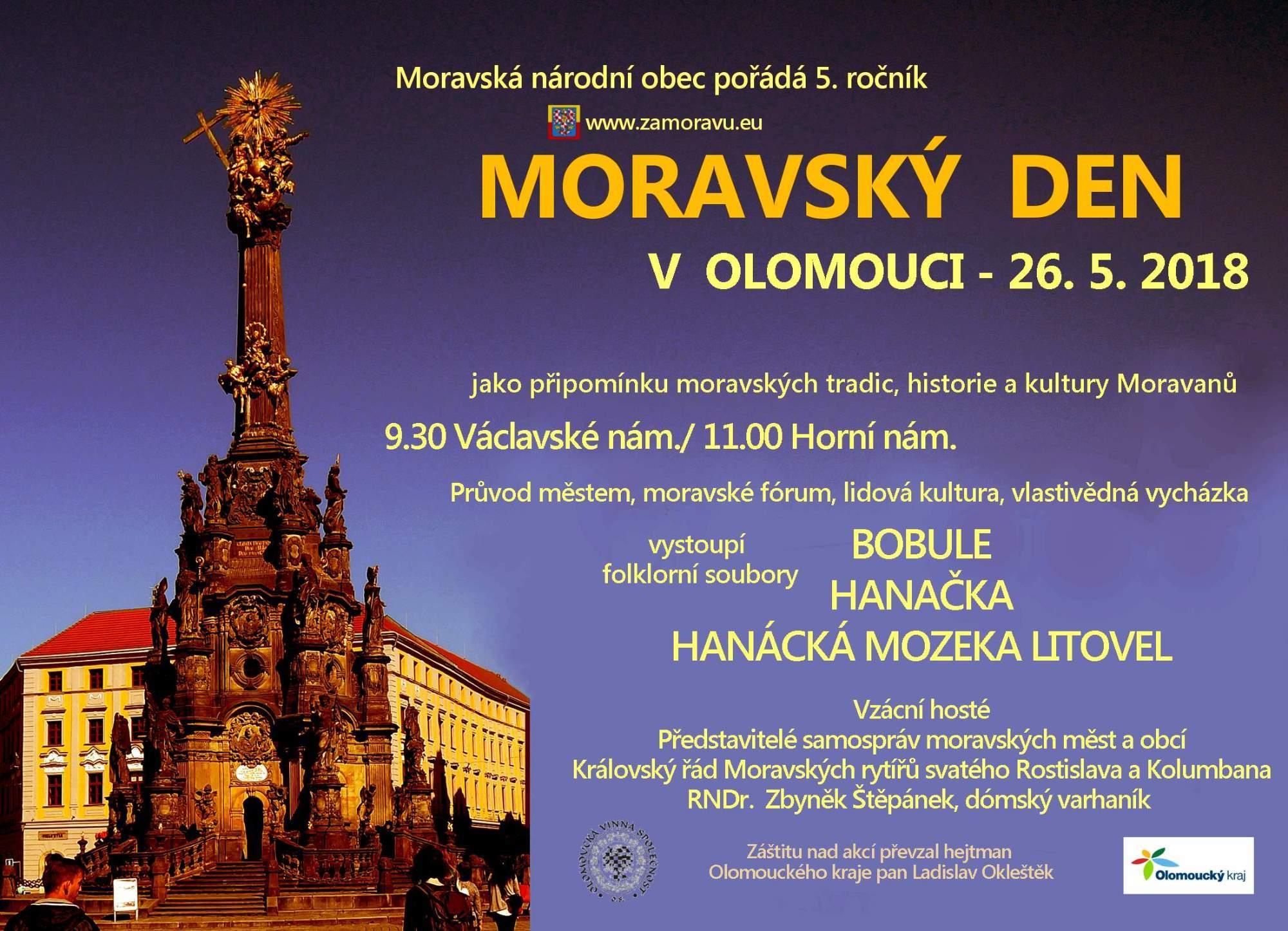 Moravský den Olomouc 2018