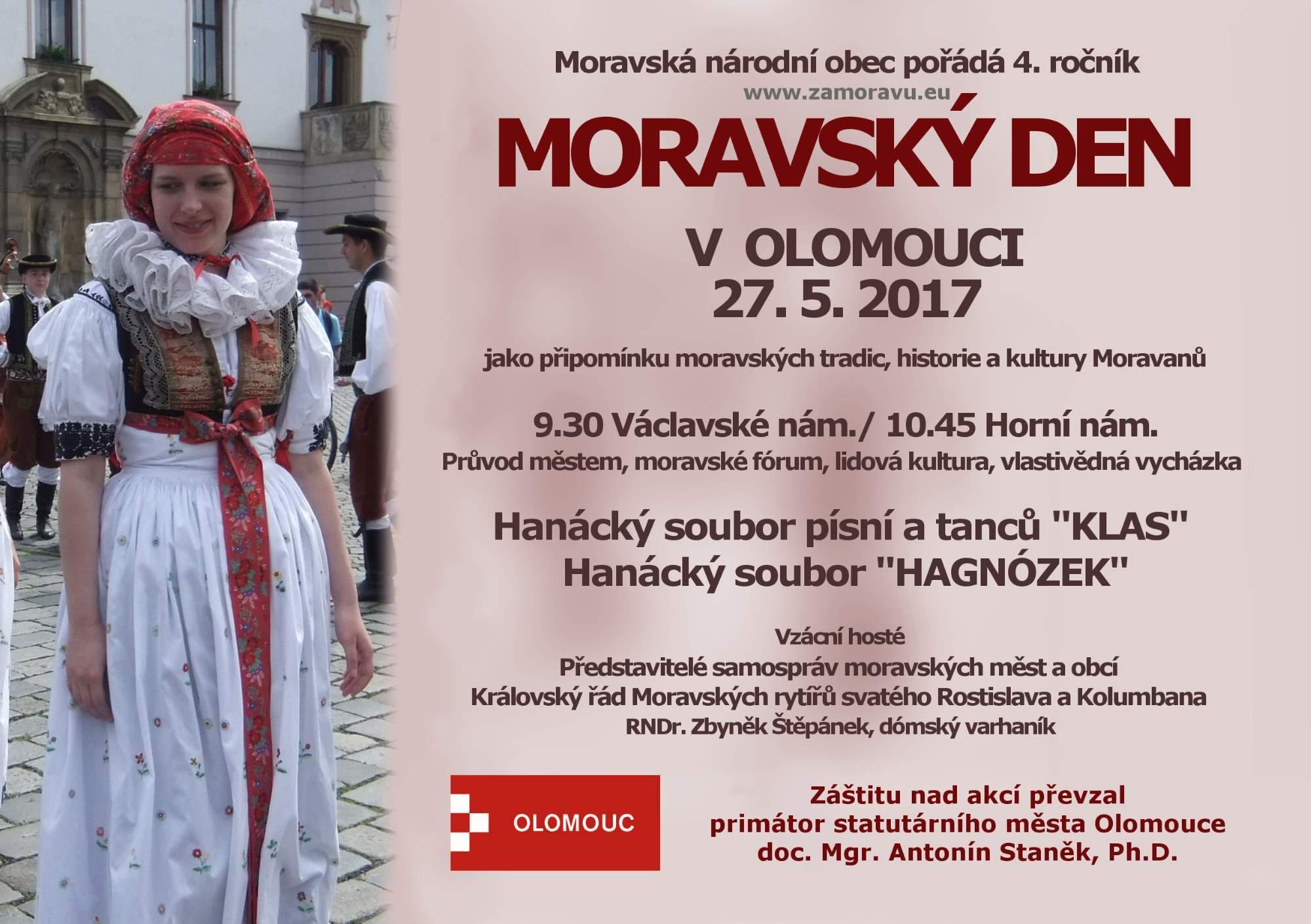 4. roèník slavnosti MORAVSKÝ DEN