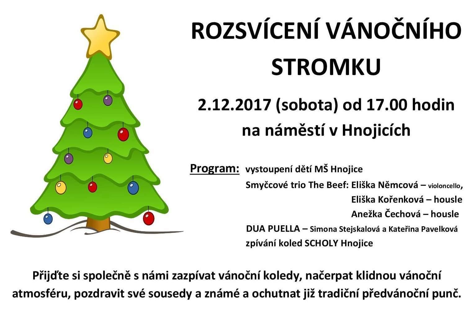 Rozsvícení Vánoèního stromku