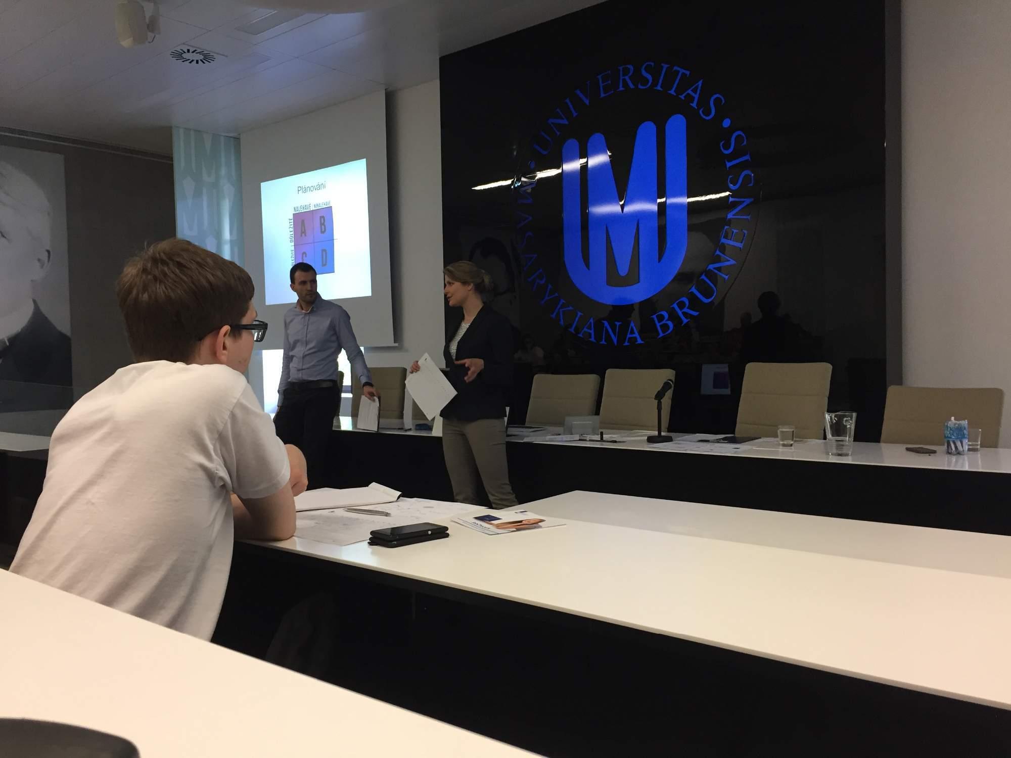 Libor Komárek a Pavla Horáková z Kariérního centra Masarykovy univerzity, Foto: Adam Košir