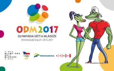 Oficiální plakát olympiády dětí a mládeže v Brně. Zdroj: Oficiální webové stránky projektu