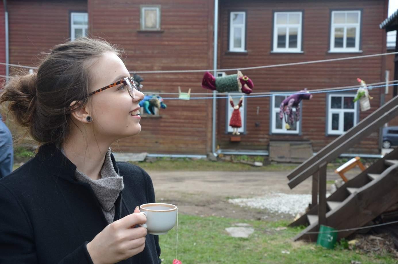 Zuzana Kašparová na studijním pobytu v estonském Tartu; Auto: Carla Klette