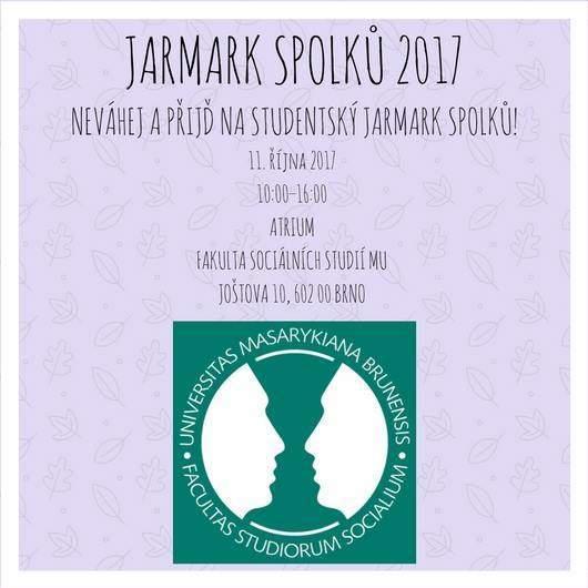 Pozvánka na studentský Jarmark spolků