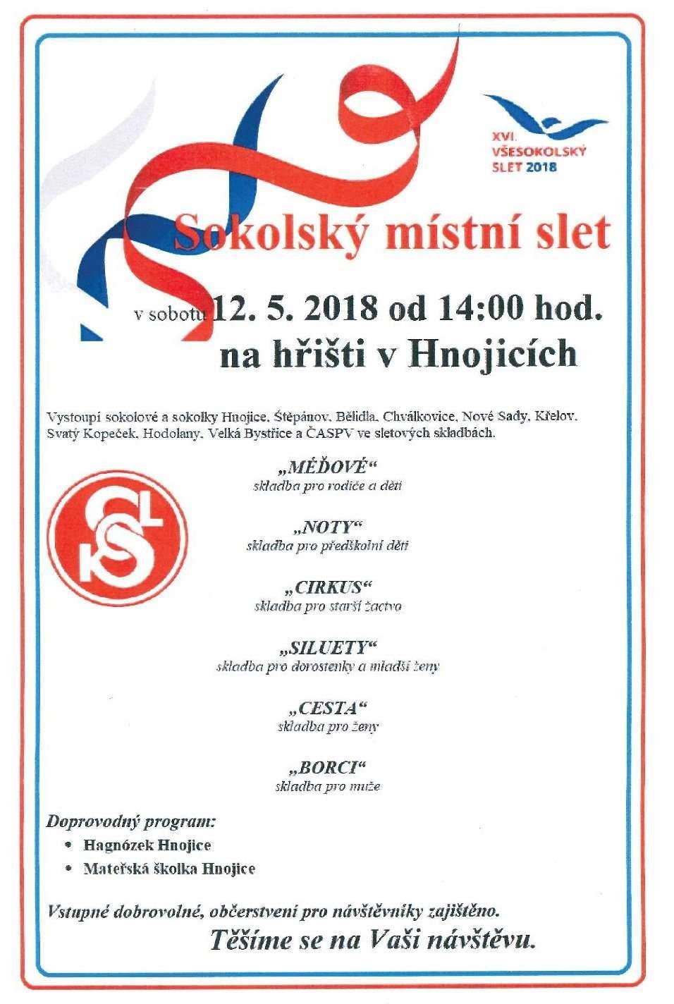 Sokolský slet Hnojice 2018