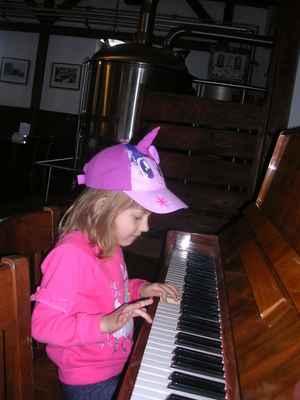Simi právě hraje skladbu KRUHY od skupiny PSÍ VOJÁCI.