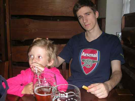 Junior je fanoušek Gunners - stejně jako já.  COYG !!!!!!!!