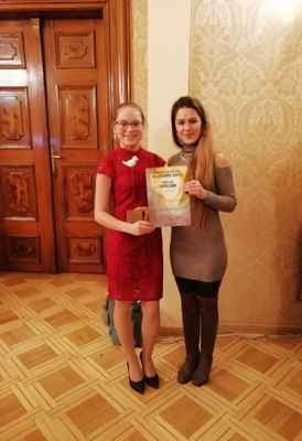 Veronika Berglová s paní učitelkou Terezií Malečkovou