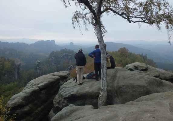 skalní vyhlídka carolafelsen...