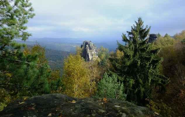 skalní věž müllerstein...