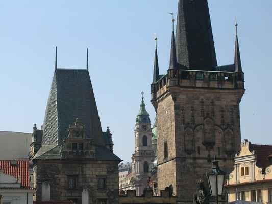 Malostranské mostecké věže v Praze.