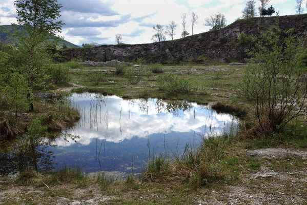 Lom Kotouč - Botanická zahrada - Z jara prý bývá lom zatopen víc... Je tu příjemně!