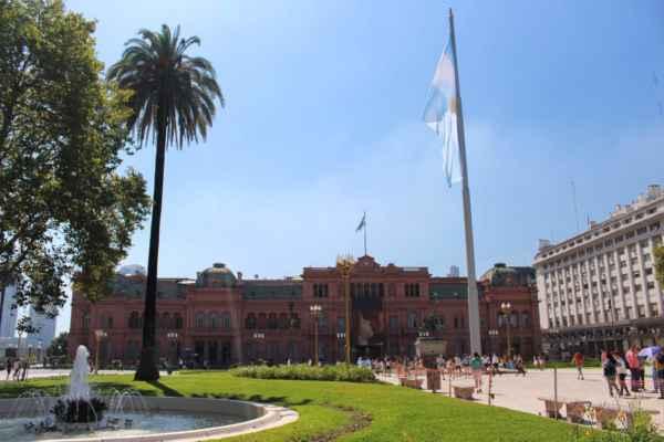 jsme v Argentině, v Buenos Aires na náměstí Plaza de Mayo