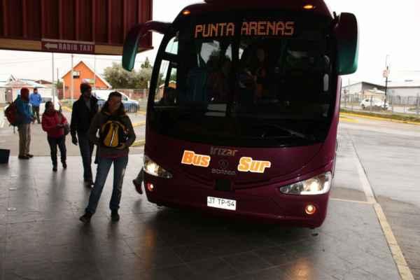 přejíždíme do Punta Arenas