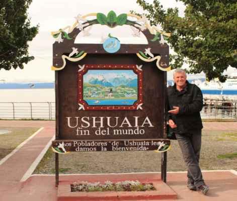 a jsme zde v Ohňové zemi, na konci světa v Ushuaie
