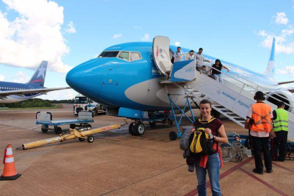 o 4000 km severněji v oblasti Iguazú