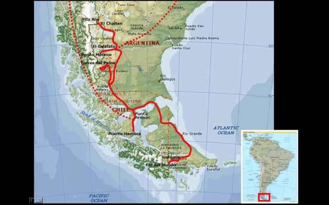 cestování po Patagonii