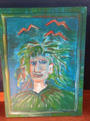 Vlněnka - acrylic on canvas, 60 x 80 cm