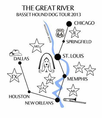 """Během 3 týdnů jsme projeli osmi státy USA a v autě z půjčovny najeli 6 tisíc kilometrů. Výlet dostal název odvozený z našich cílů: vidět """"Velkou řeku"""" Mississippi, vidět basety, zavzpomínat na Elvise a jeho slavnou píseň """"Hound Dog"""", na jihu v """"Deltě"""" navštívit místa, kde se zrodilo blues a v New Orleans se nechat okouzlit tradičním jazzem. To vše, co jsme viděli a zažili, bylo úžasné. Podívejte se s námi!"""
